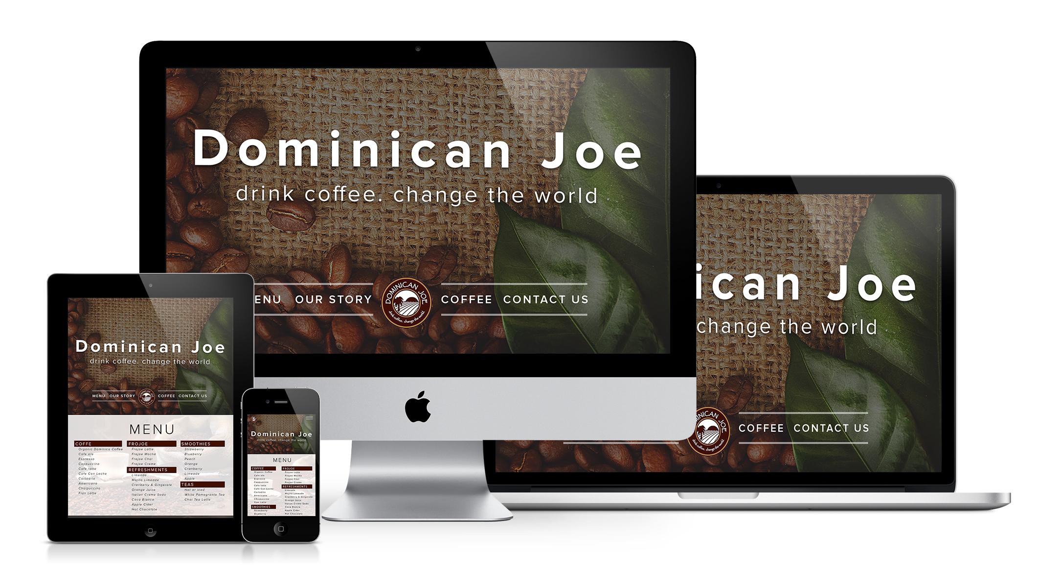Dominican Joe Coffee Web Redesign