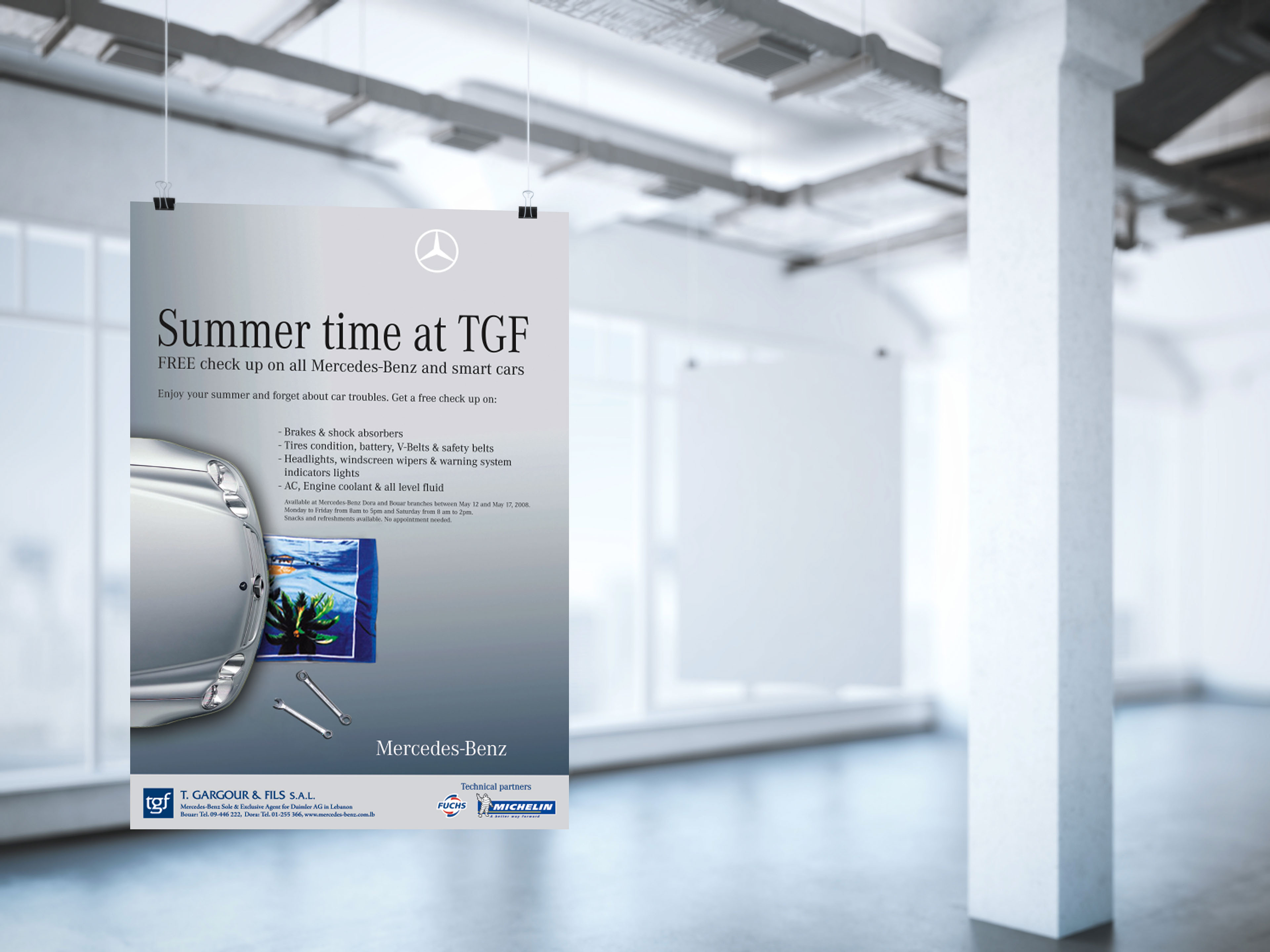 Mercedes Benz Summertime Check Up Ad On Behance Engine