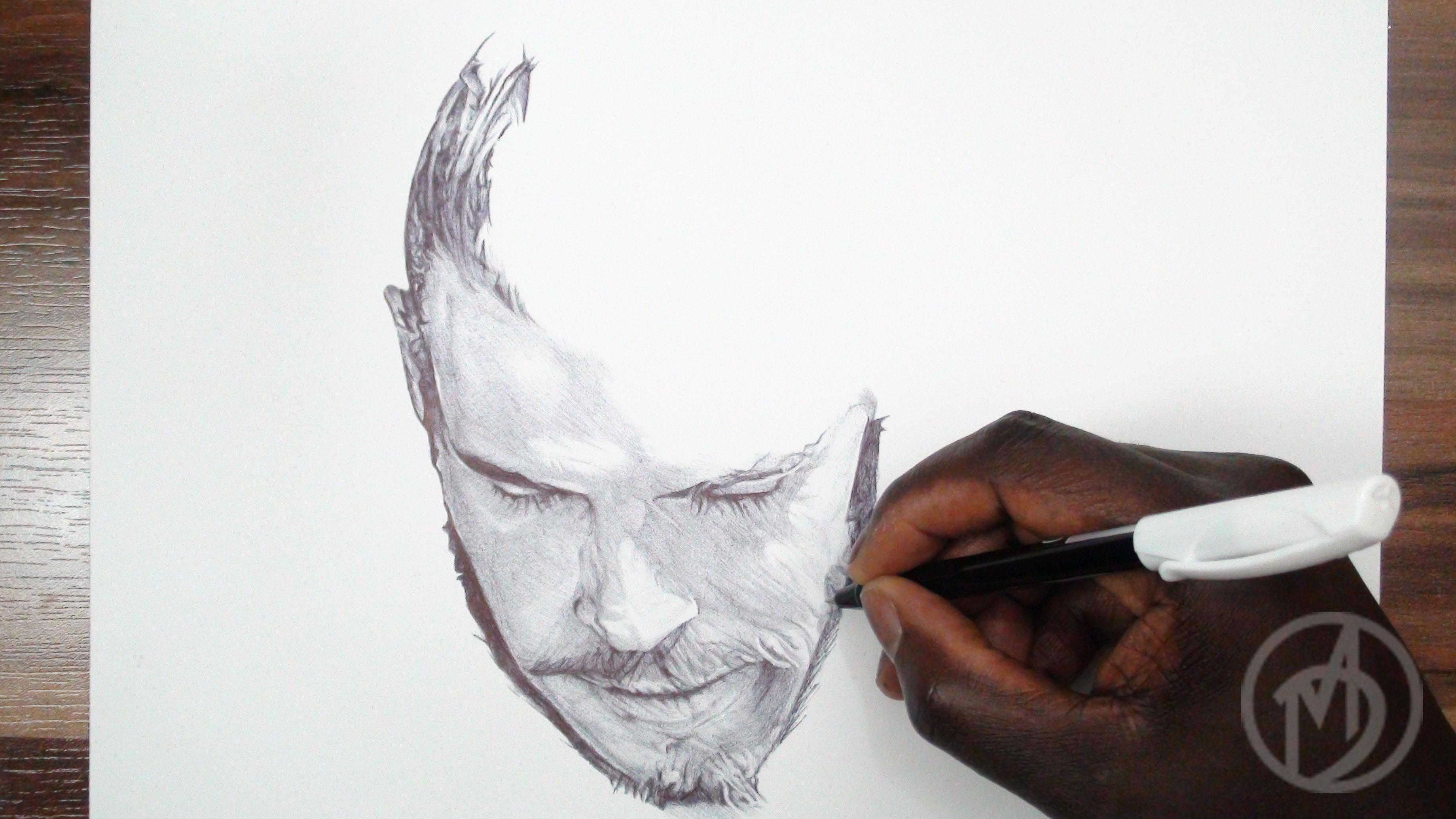 Gareth Bale Ballpoint Pen Drawing On Behance