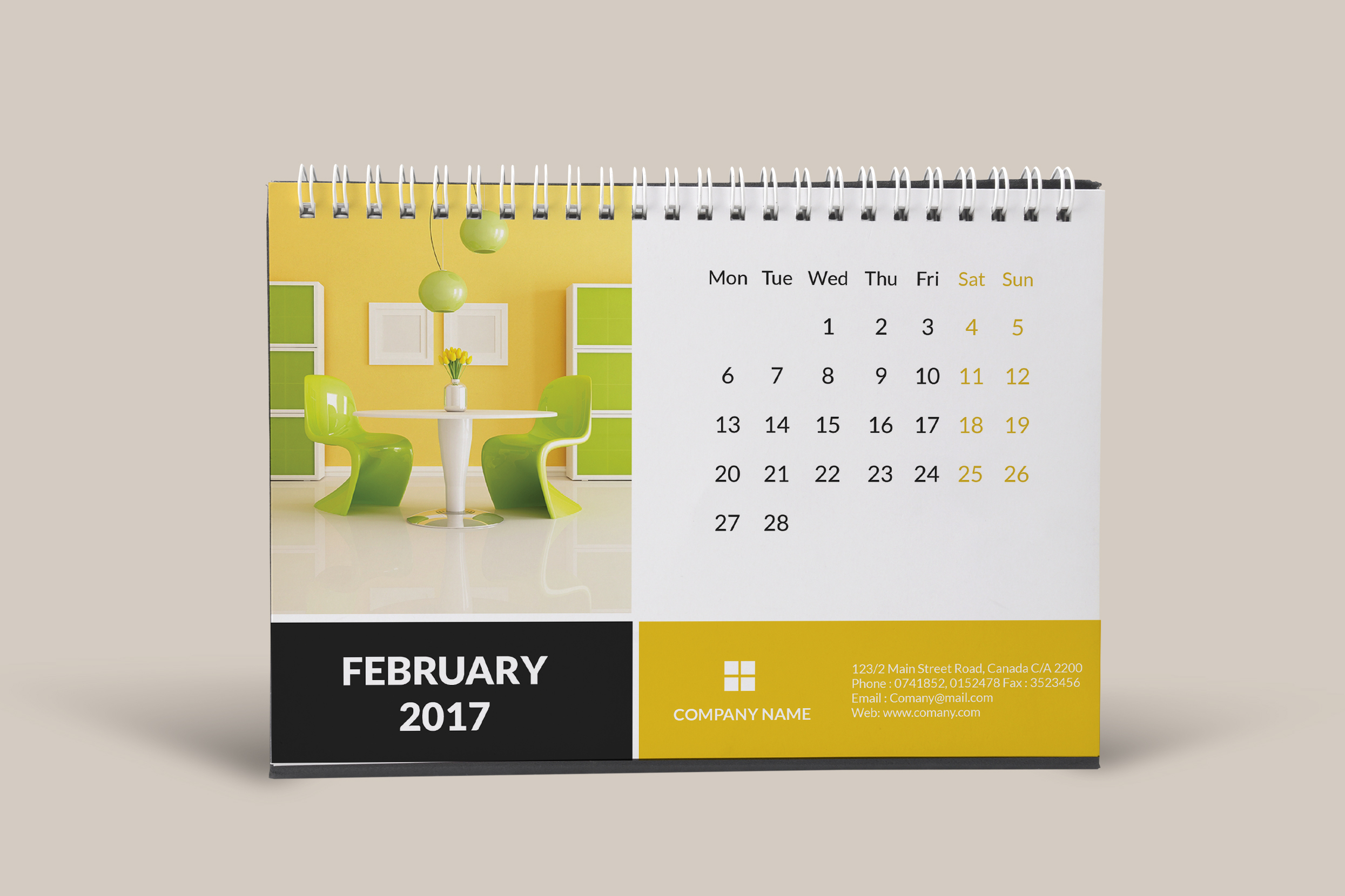 Desk Calendar Design Ideas. Free Ps Mini Desk Calendar Folded In ...