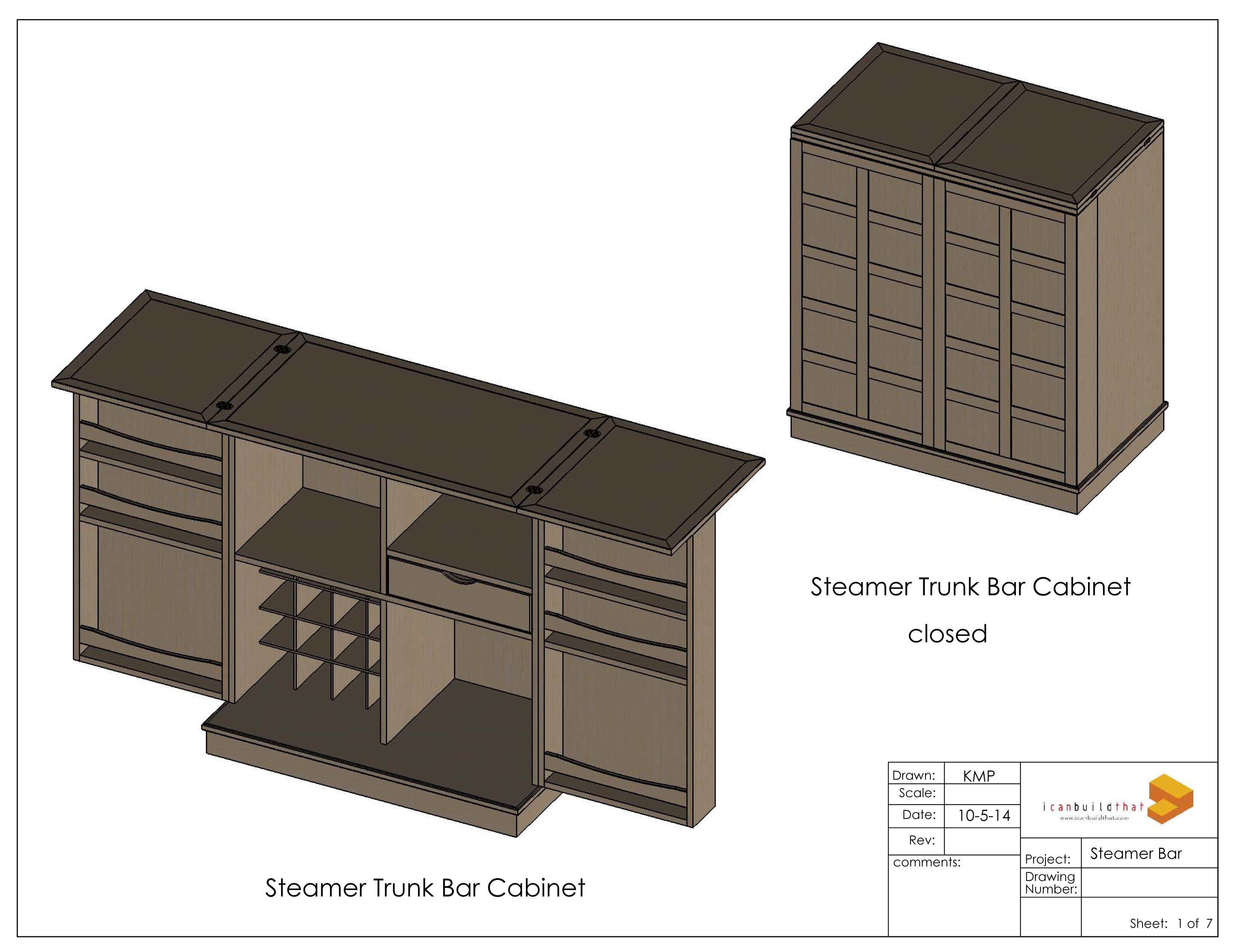 Steamer Bar Cabinet On Behance