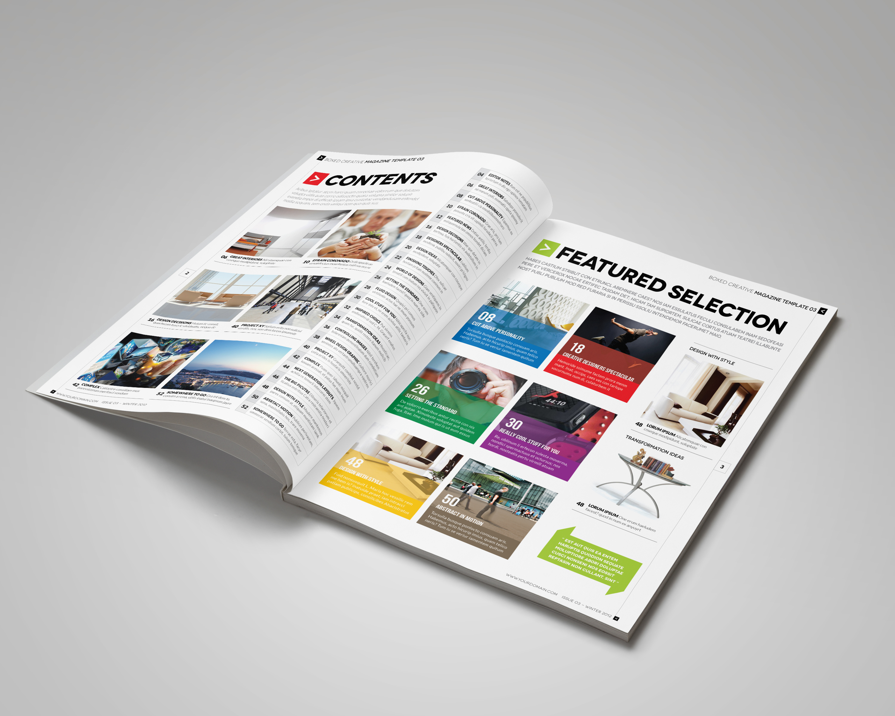 Magazine template indesign 56 page layout v2 on behance pronofoot35fo Gallery