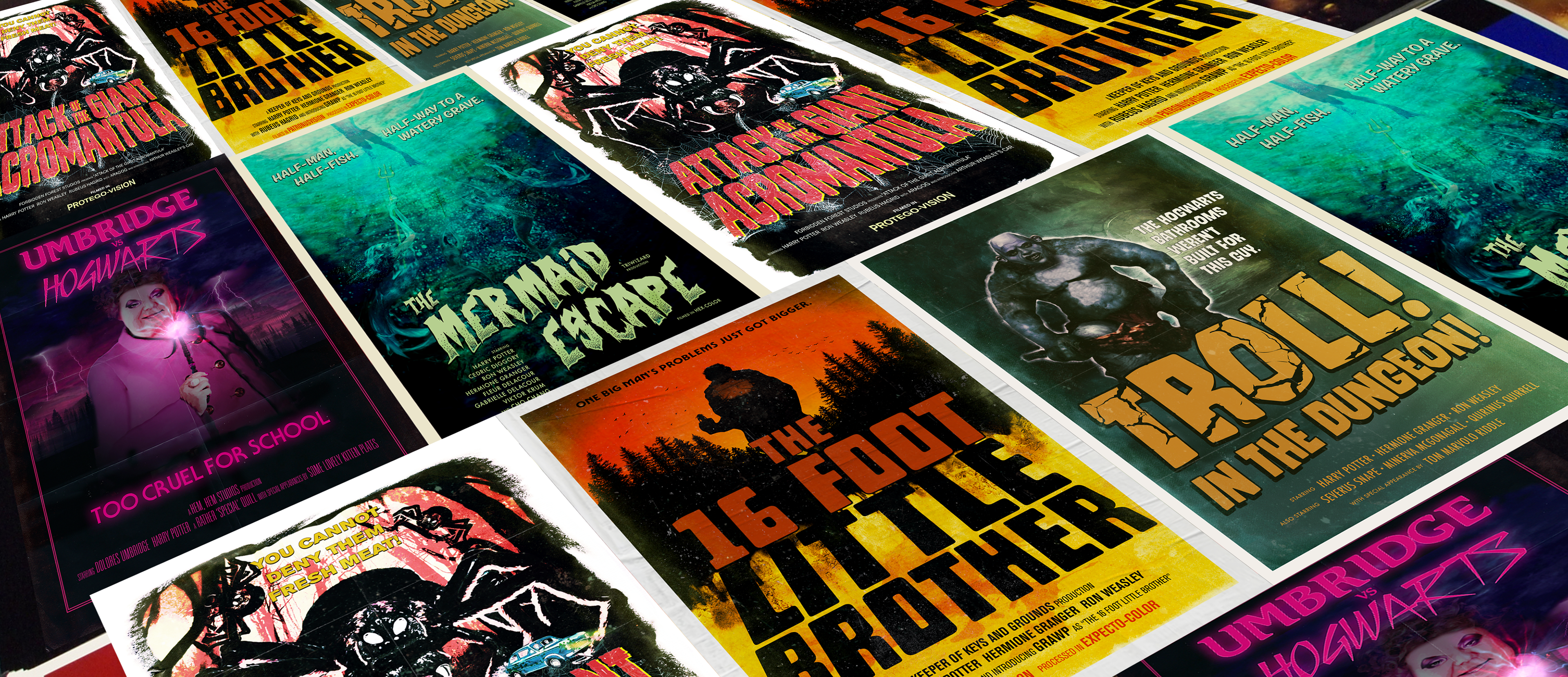 Harry Potter Books seen as B-Movie Posters on Behance