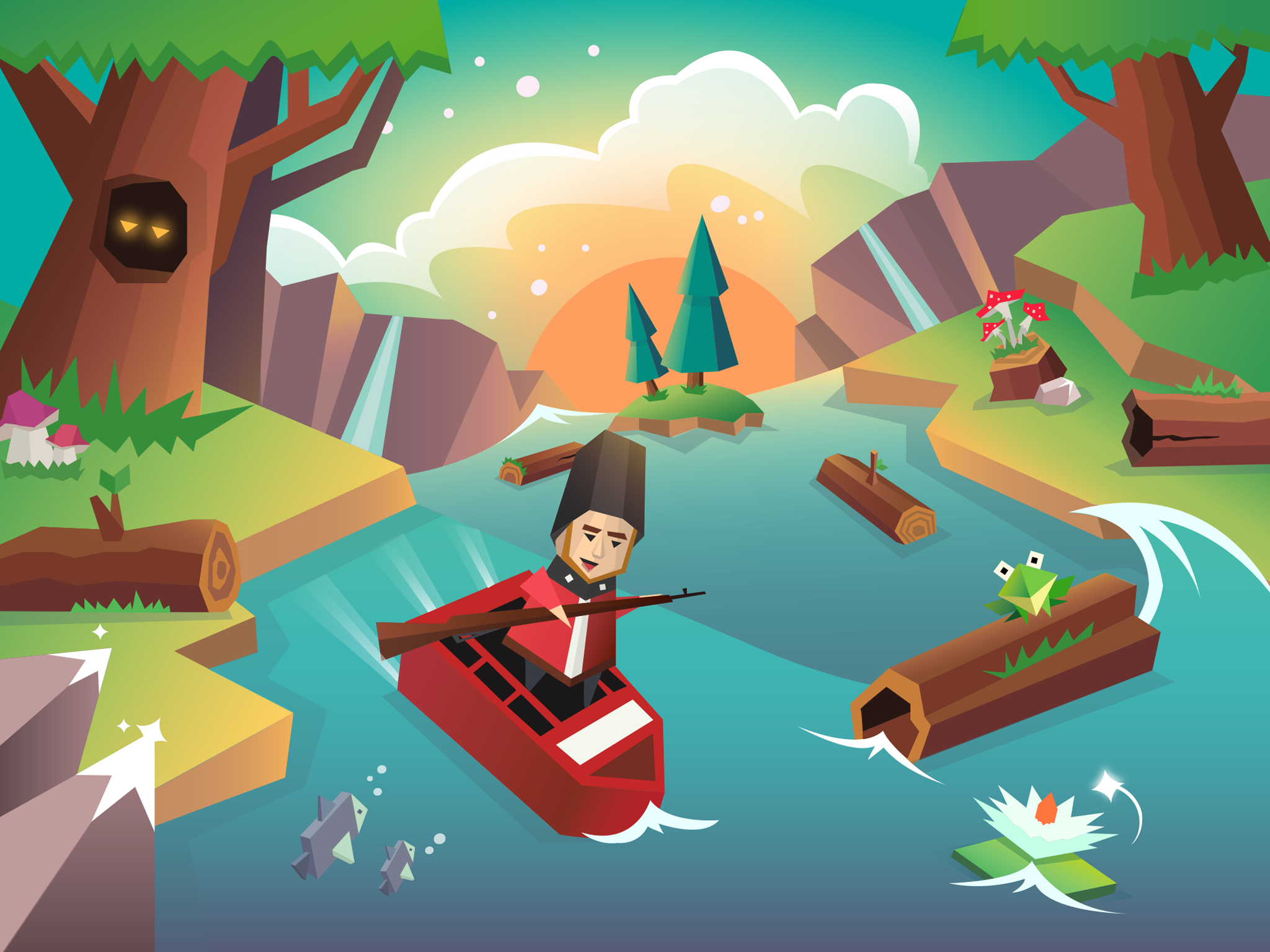 Magic River Game On Behance - River game