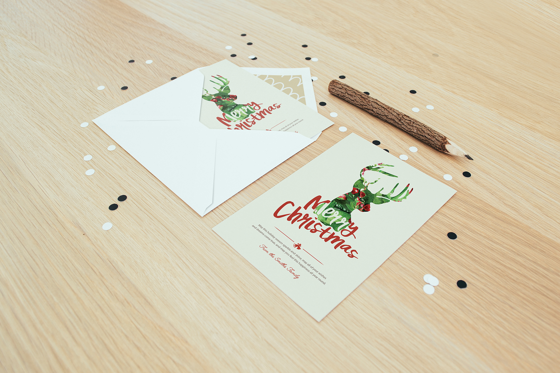 Christmas Greetings Cards On Behance