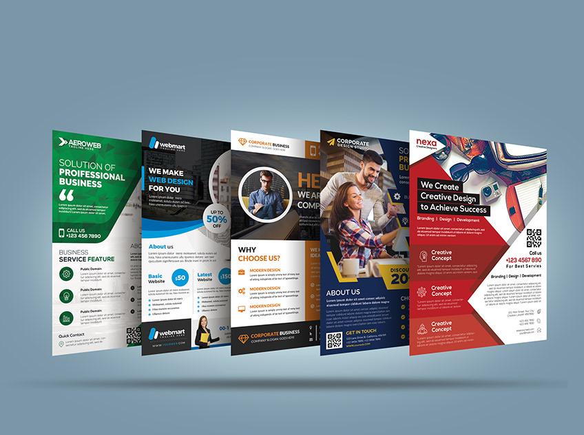 Danh mục các mẫu thiết kế đồ họa tờ rơi, tờ gấp đủ mọi ngành nghề