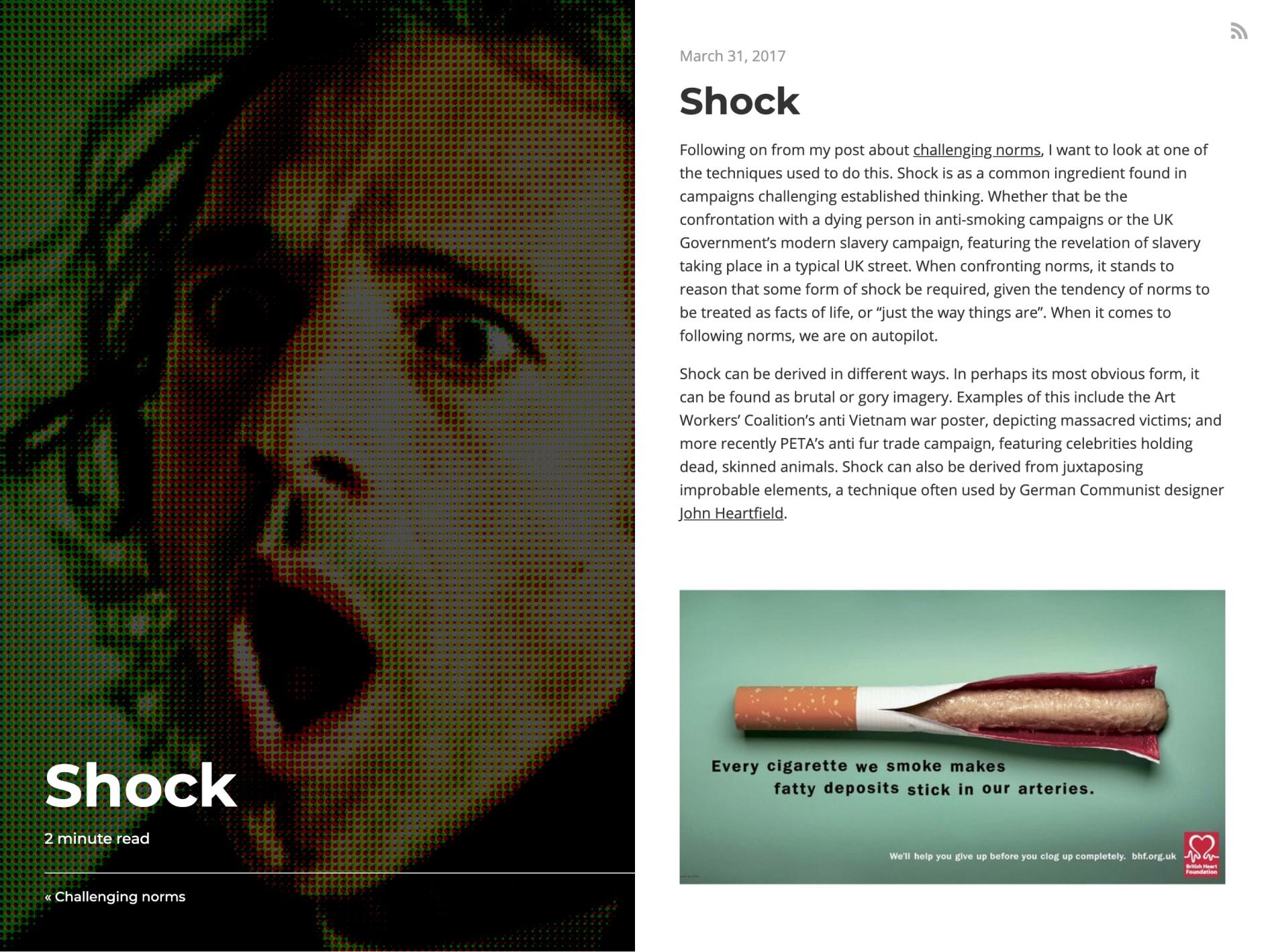 Article page screenshot