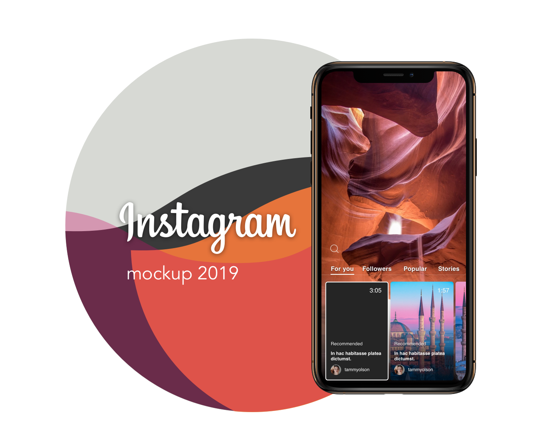 Instagram mockup template 2019 PSD Sketch free - UpLabs