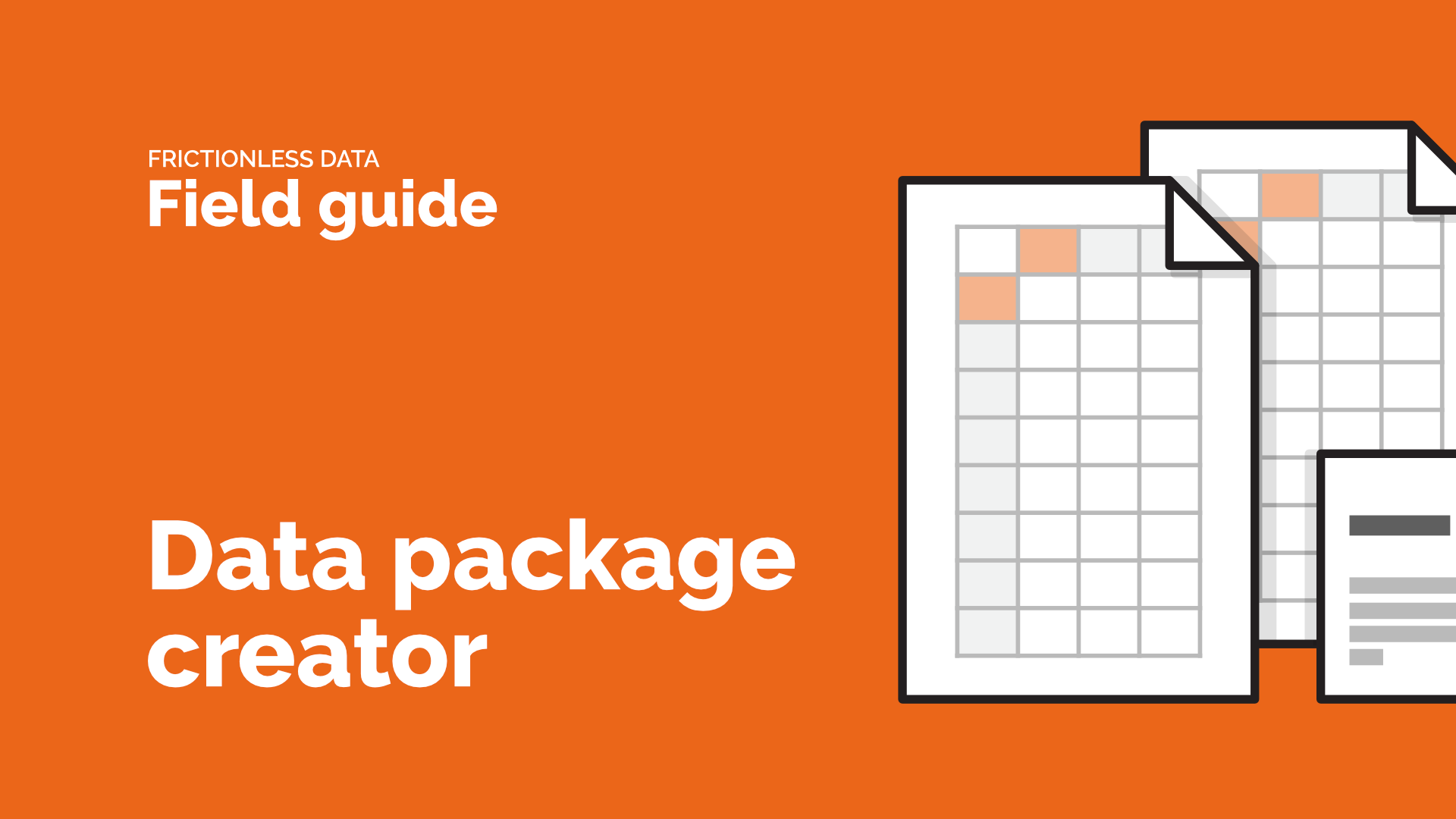 Video title image for Data Package Creator