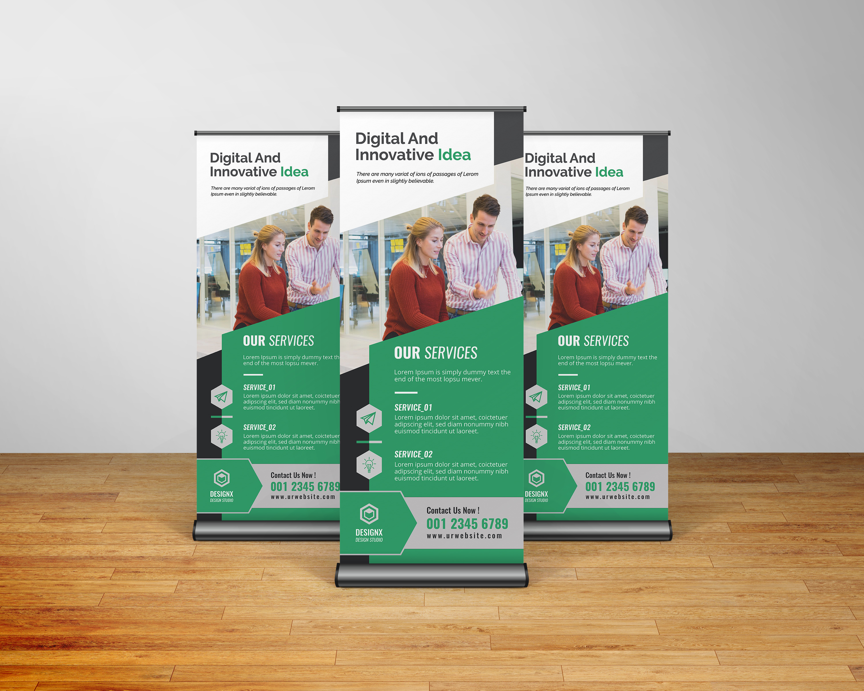 custom printed retractable banners