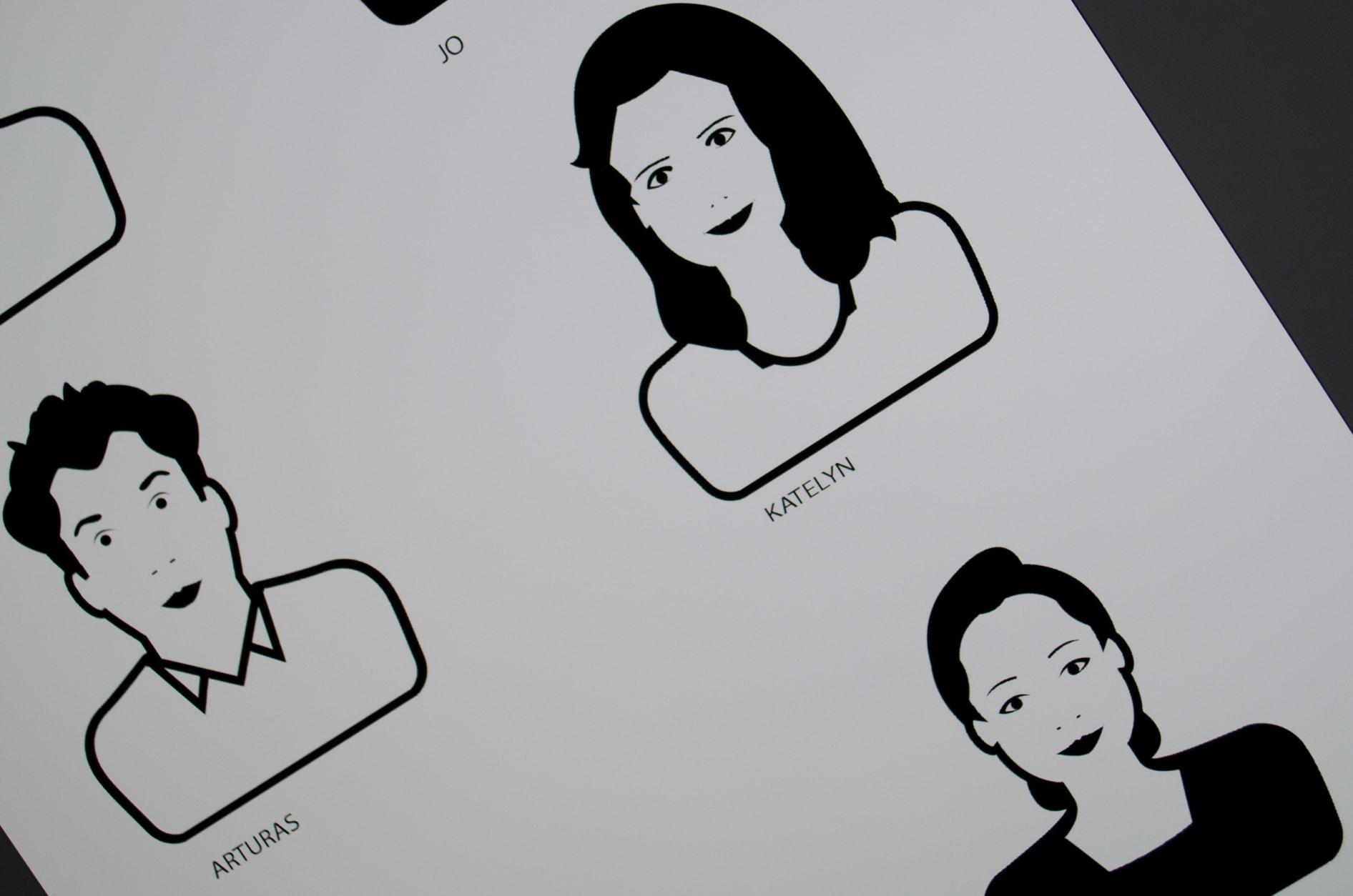 Screenshot of design process