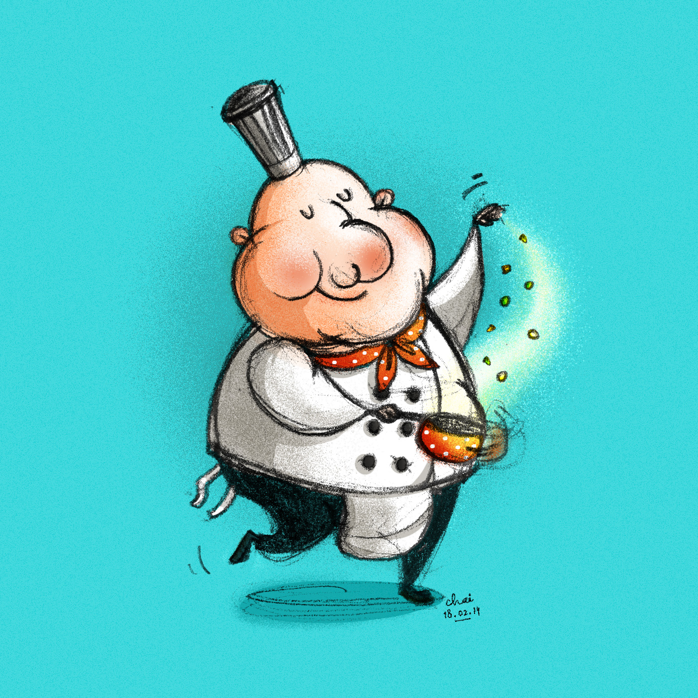 Magical cook.