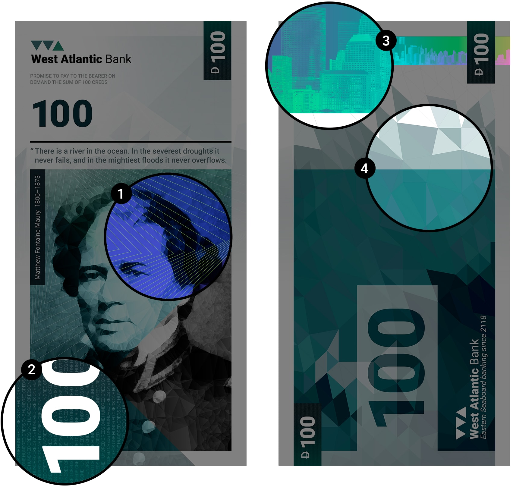 Banknote security features