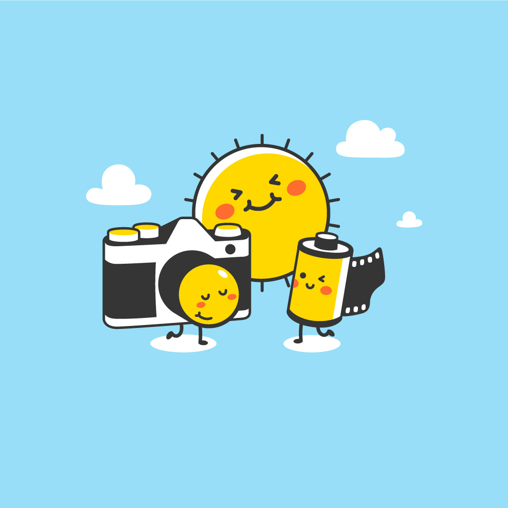 Camera, Sun, and Film are always Best Friends Forever!