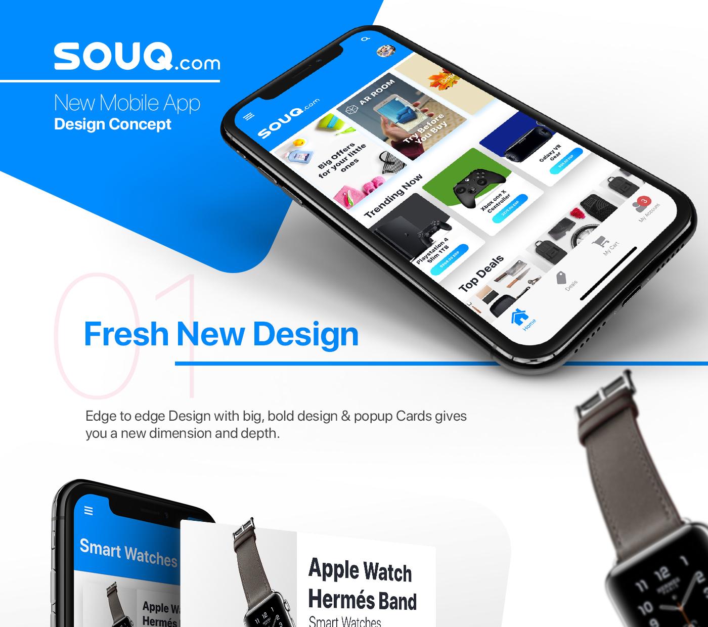 Souq com | Mobile App Concept - UpLabs