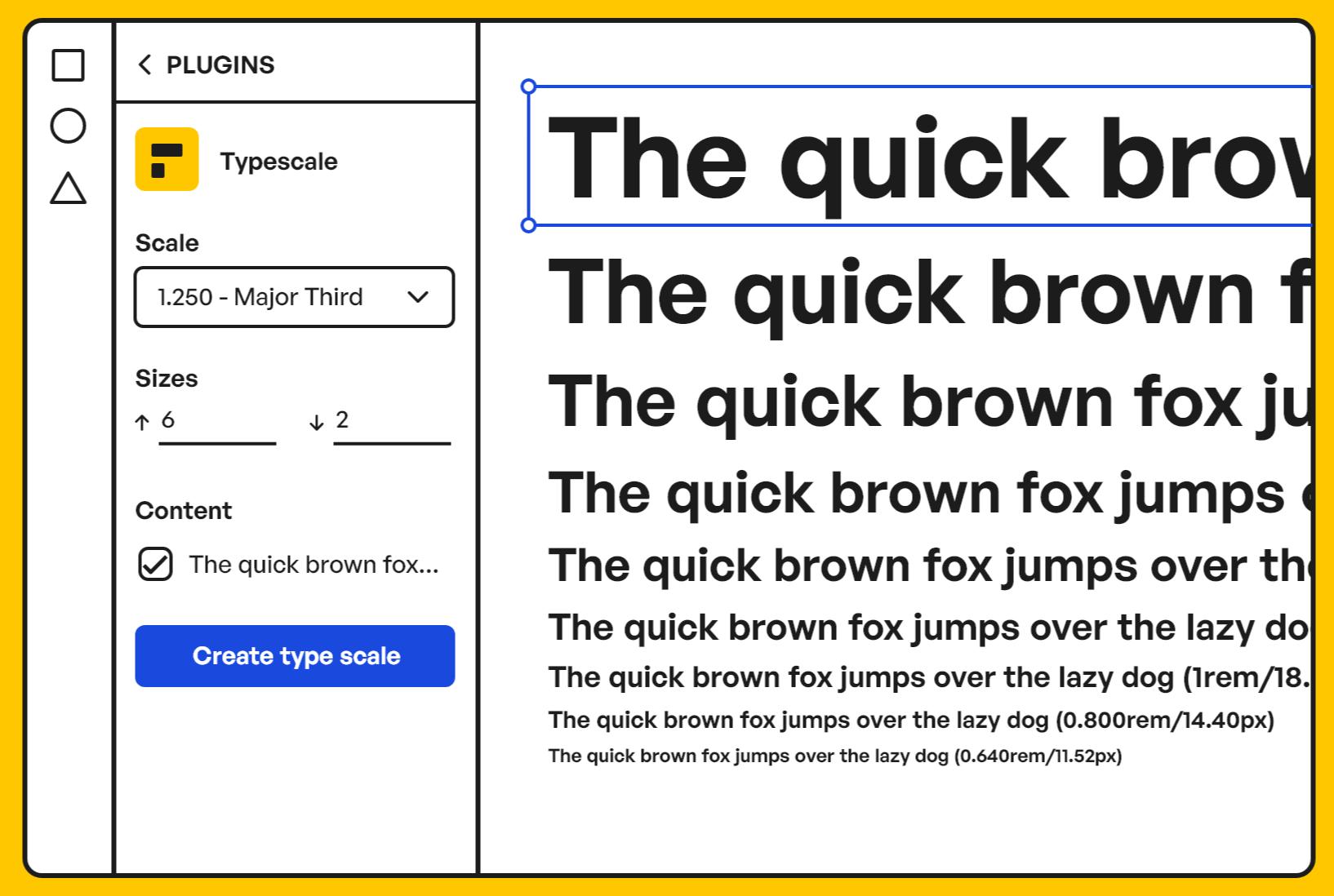 Typescale illustration