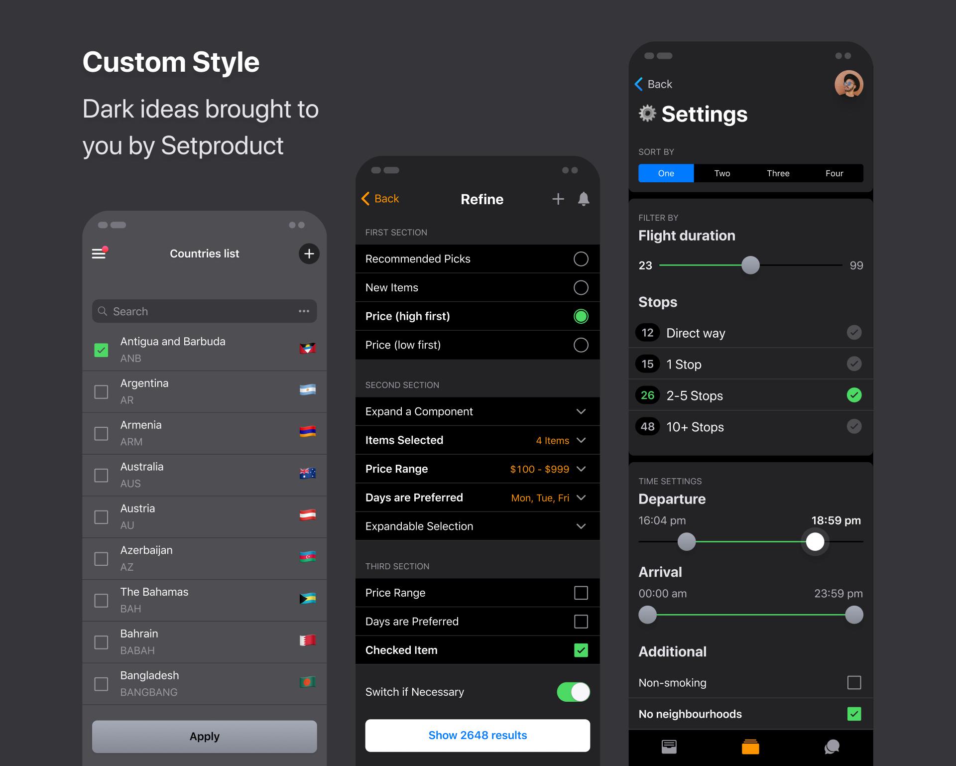 iOS Dark Theme UI kit for Figma - UpLabs