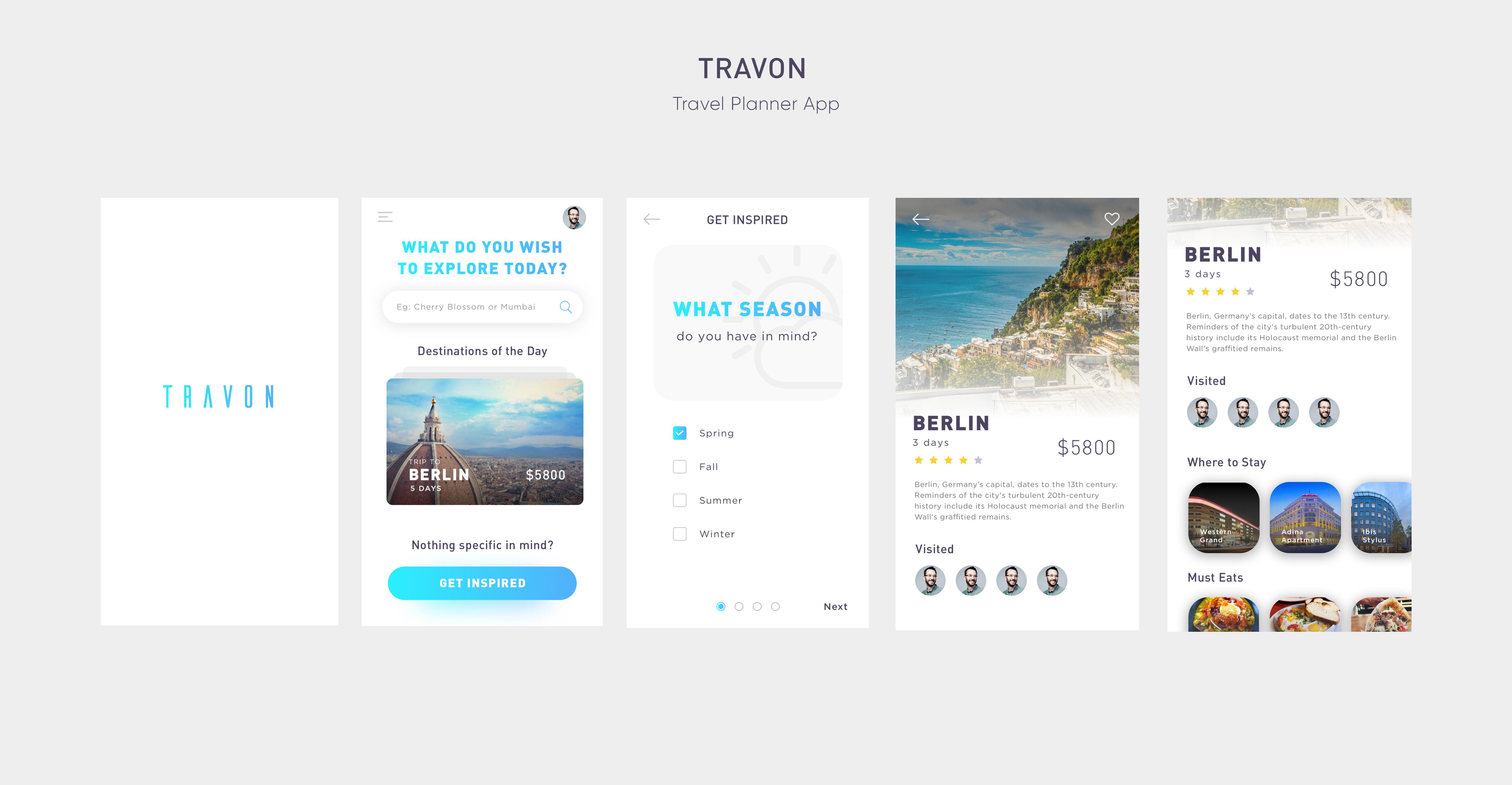 Travon Travel Planner App - UpLabs