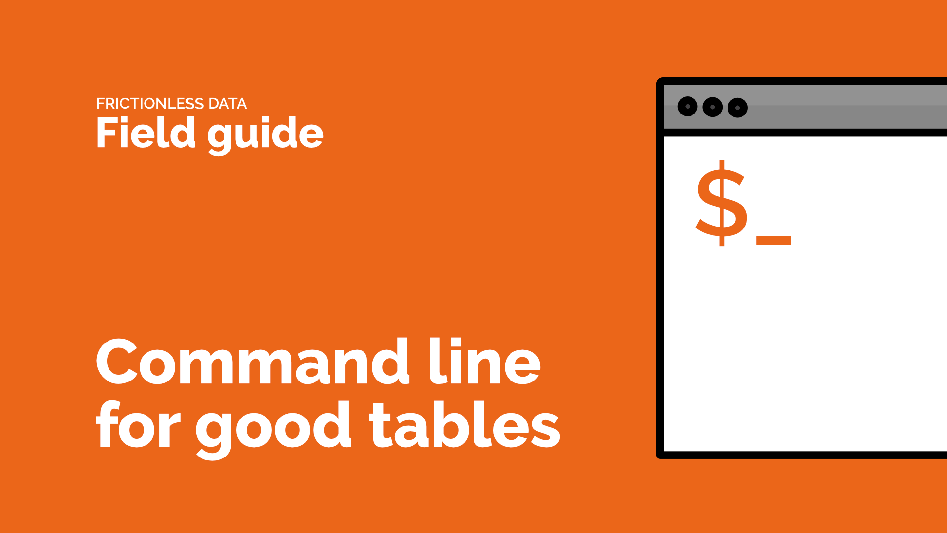 Video title image for Command line for Good Tables