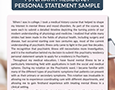 psychiatry residency personal statement sample