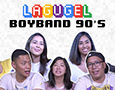 Lagugel's thumbnail for Youtube showing a group of young men and women smiling and laughing