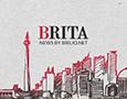 An illustrations that depicts Jakarta for Brita's Social Media Design