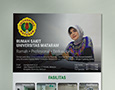 A brochure or flyer that tells what Rumah Sakit Universitas Mataram is and its services.