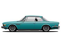 BMW 3.0 CSI (E9) vector art
