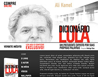 Layout para hotsite do livro do Ali Kamel