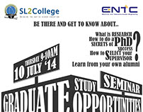 Poster design for SL2College University seminar 2014