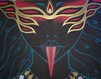 'Kali' Mural for the Bear Pit (Paint Jam 2 )