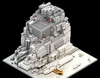 Askani's tomb - Voxel art