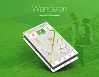 Wandelen | iPhone app UI design