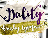 Dality, Modern Brush Script Typeface with Extras