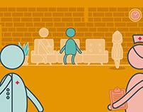 Hospital-Life Motion Graphics App Illustrations