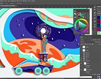 Website Design, in Progress: Adding Papercut Effect