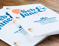 Seb and Jane wedding invitations