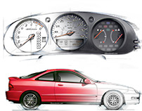 Early Acura illustrations 1998