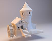 3D fantasy building