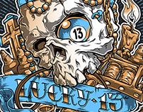 Lucky 13th anniversary print