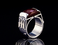 Nigrum adamas (natural ruby) - Personalized ring natura