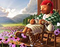 Jerry LoFaro for Celestial Seasonings Sleepytime Bear