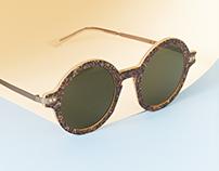 Sable, lunettes de soleil