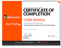 Pluralsight/Digital-Tutors & Lynda Certificates