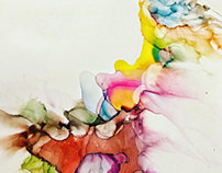 Alcohol Ink On Paper
