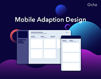 Ocha Dashboard | Mobile Adaption Design | UI/UX