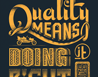 Quality Means ....
