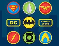 DC Comics Characters - Flat Logo and characters