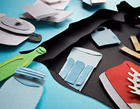 Paper illustration, how to sort your waste.
