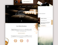 Whisky Warehouse Logo & Web Design